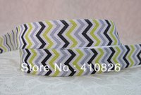 character ribbon - ribbon OEM inch mm Chevron Printed character Fold Over Elastic webbing FOE yds roll
