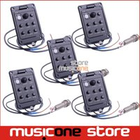 beat boards - 5pcs High Quality Band EQ Equalizer Acoustic Guitar Preamp Piezo Pickup Guitar Tuner with Mic Beat Board