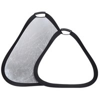 Wholesale 32 quot Silver White IN Portable Handheld Triangle Collapsible Reflector cm