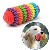 Wholesale Colorful Rubber Pet Dog Puppy Dental Teething Healthy Teeth Gums Chew Toy Tool