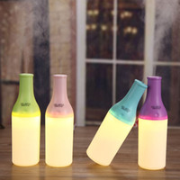 airs cocktail - Fashionable USB Portable Mini Cool Cocktail Bottle Humidifier Office Air Diffuser Mist Maker with LED Nightlight for Car Home