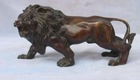 asian art sculptures - Cheap Chinese Bronze Asian Africa Wild Lion Statue Sculptures