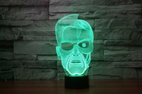 angels wow - 2016 Arnold Schwarzenegger D Night Lamp Optical Night Light LEDs Night Light DC V Factory hotDota WOW