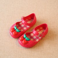 baby fragrance - 2016 girl Shoes For kids New Limited Strap Baby Rubber Mini Melissa Cute Cherry Sandals Children BirdsSummer with Fragrance
