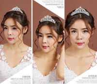 Wholesale High CM Bridal Water Drop Crystal Tiaras Crown Wedding Bridal Tiaras Party Hair Accessories Wedding Jewerly Discount Style