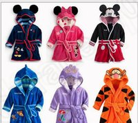 baby sleep gowns - 6 design LJJK191 Baby Kids Children Night Sleep Wear Robe Bathrobe Clothes Mickey Minnie mouse Pajamas Night Gown Nightclothes