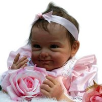 beautiful bebe - Hot Sale inches Super Soft Silicone Black Reborn Baby Dolls Handmade Realistic Beautiful Smile Girls Princess Doll Bebe Toys