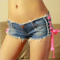 Wholesale 2016 New Sexy Denim Shorts Women Low Waist Short Women Girl Jeans Fashion new brand