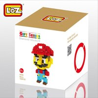 Wholesale loz small particles of diamond assembling children s toys creative assembly Super Mario