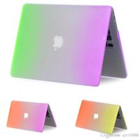 Wholesale For Macbook pro Case Rainbow Matte Funda For Mac air Case Cover Book air pro retina inch Bag For Apple Laptop Macbook