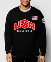 Wholesale new team USA basketball jersey autumn hoodies fashion men sweatshirt streetwear brand funny hip hop sport fleece harajuku