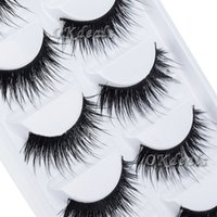Wholesale Pairs Black Natural Thick False Eyelash Soft Long Handmade Makeup Fake Eye Lashes Extension