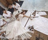 beach max - Vintage Max Lace Beach Wedding Dresses Lihi Hod Sweetheart Neck Satin Bow Illusion Back Elegant A Line Bohemian Cheap Wedding Gown New