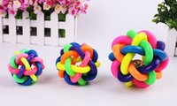 Wholesale Dog Toys Dog Accessories Bell Pet Ball Rainbow Color Rubber Material Toy Hot Sale WA0664