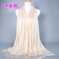 Wholesale womens muslim scarf women various colors tassel scarf women yanwen cotton blend tassel long hijabs scarf scarf