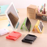 abs press - Colorful Series ABS Hot Pressing Process Girl Gift Desktop Placement Folding Stand Back Style Cell Phone Holder