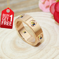 Cheap Love Screws Rings Pink Gold 2016 New Version Screws Style Fashion Jewelry Brand Gifts For Women & Men Rose Gold Plated With Box