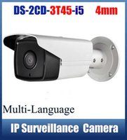 Wholesale Hikvision Multi Language DS CD3T45 I5 Full HD MP Support H HEVC For Home Seurity M IR Range POE IP CCTV Camera