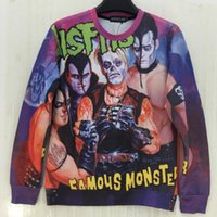 band misfits - Hot Tide brand D printing Misfits band print men sweatshirt famous monsters special cool hoodies colorful o neck Clothing tops