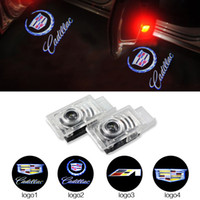 ats logo - Luz De Porta De Carro Car LED Door Welcome Emblems Light With Car Logo light for Cadillac SRX SXT ATS CTS