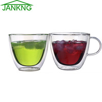 beer glassware - JANKNG Clear Handmade Double Wall Glass Cups mL Heat Resistant Glass Tea Cups and Mugs Coffee Travel Cups Glassware