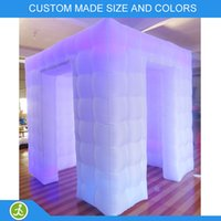 Wholesale YIJIA party use Inflatable led strip photo booth