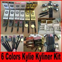 Wholesale Kylie Jenner Kyliner BRAND NEW Kylie Cosmetics Black Brown bronze chameleon with Eyeliner Gel pot Brush