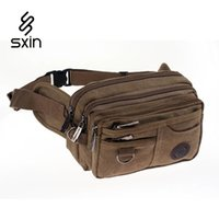 Wholesale Men Canvas Multi pocket Waist Bag Hip Package Outdoor Sport Casual Fanny Pack Hiking Travel Fishing Army Waist Pack