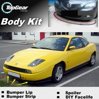 Wholesale Bumper Lip Lips For Fiat Coupe Front Skirt Deflector Spoiler For Car Tuning The Stig Recommend Body Kit Strip
