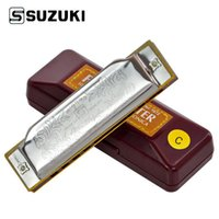 Wholesale Suzuki Folkmaster C Standard Beginner Diatonic Blues Harmonica Gaita Holes Key of C Musical Instrument
