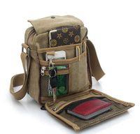 Wholesale Casual Messenger bag canvas baodan men and women shoulder bags man bag outdoor multi purpose bag surge