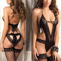 Wholesale Women s Girl s Lingerie Pub Sexy Set Lace Nylon Underwear Sleepwear G string Nightwear Stretch Free Size N29