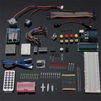 Wholesale UNO R3 Starter Kit LCD Step Motor Breadboard Servo LED Resistor For Arduino Component Basic Element Pack Starters Kits