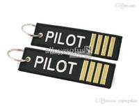 al por mayor piloto anillo-Venta al por mayor-Pilot anillo de la cadena dominante Epaulette epaulet hombro marca estilo mejor regalo a aviador Airman Tripulación