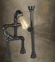 Wholesale Originality Industrial Retro Village Metal Robot Water Pipe Lamp Desk Lamp