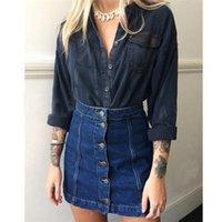 Wholesale High Qualtiy Summer Style Denim Skirts Women Jean Miniskirt High Waist Package Hip Retro Short Pencil Skirt For Women