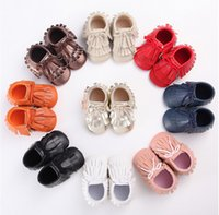 Wholesale Lace spring autumn baby toddler shoes new tassels children soft bottom shoes months Boy PU shoes pair B3