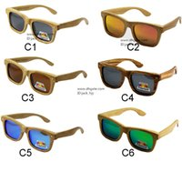 Wholesale 2016 Bamboo sunglasses wooden Sunglasses wooden glasses with polarized lens excellent products fashion eyewear