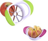 apple friut - Apple knife handle fruit slicer pears shredders corers cutter stainless Thicken vegetable friut tool Q