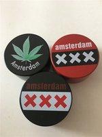 Wholesale New Smoking Grinder Herb Grinder Tobacco Grinder Amsterdam Metal Grinder CNC Grinder Mix Colors