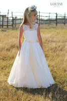 beautiful wedding dress buy - 2015 ivory lace flower girl dress very beautiful lace European and American fashion style welcome to choose and buy