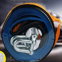 belt trailers - 4 m8t high strength trailer rope suvs reflective traction rope meters tons widening thickening polyester trailer belt