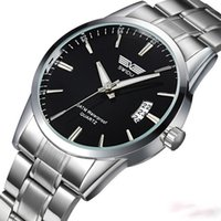 Wholesale Men s Stainless Steel Band Date Quartz Analog Sport Wrist Watch Army casual