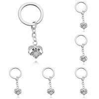 Wholesale heart shape key rings Christmas Gift for family members jewelry Heart Crystal KeyChains key Chain For Sister Mom Grandma Nana Daughter