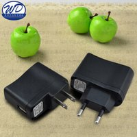 Wholesale Universal Wall Chargers Electronics for Ecig Mobile Phone PDAs MP3 Chargers US Adapter UK GB Plug USB Wall Travel Charger TOP Quality