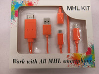 achat en gros de hdmi to usb converter-HD 1080P Micro USB MHL vers HDMI Kits HDTV Adapter Converter Mobile Phone Câble numérique pour Samsung S3 4 Note2 Autres MHL Téléphone.