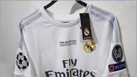 Wholesale Thai Real Madrid soccer Jersey Champions League final jersey Ronaldo BENZEMA BALE JAMES jersey soccer football shirt