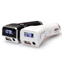 Wholesale M81 Car MP3 Audio Player Bluetooth FM Transmitter Wireless FM Modulator Car Kit Hands LCD Display A USB Charger