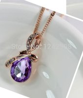 Wholesale Anime Maxi Necklace Jewelry Fashion New Arrival Romantic Lovers Fine Statement Necklace The Korean Version Of Angel Tear Drop