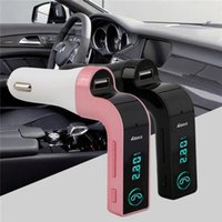 Wholesale Top Quality G7 Smartphone Bluetooth MP3 Radio Player Handfree FM Transmitter Car Charger Wireless Kit Support Hands free Micro SD TF Card